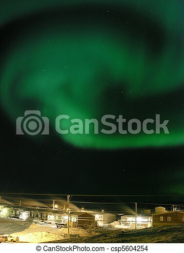 stock photo of northern lights (aurora borealis) over the