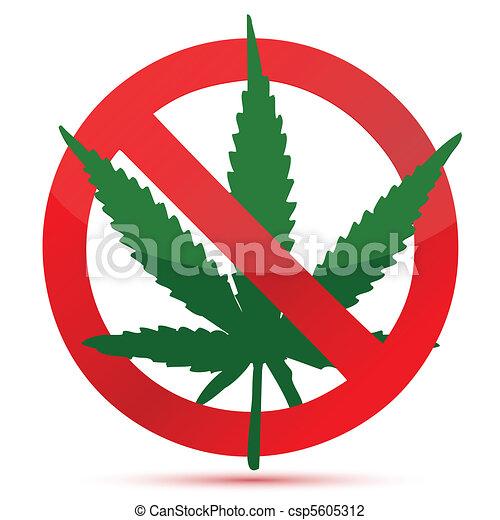 Forbidden cannabis - csp5605312