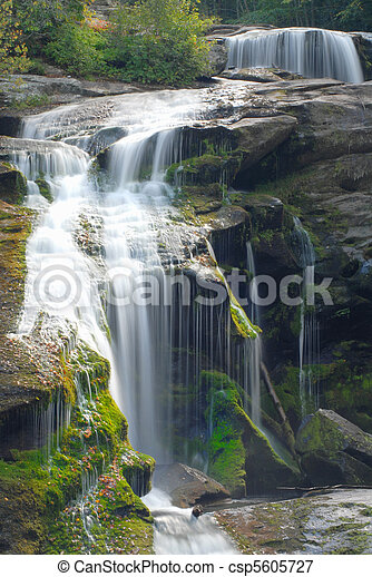 Close up of a waterfall in tennessee  - csp5605727