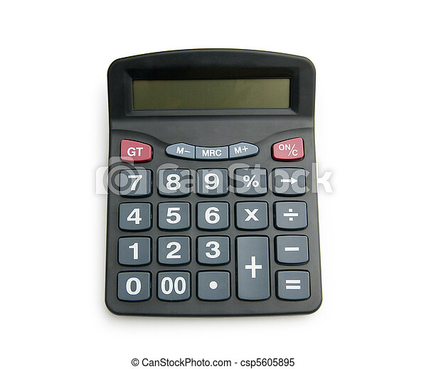 Business concept with accounting calculator - csp5605895