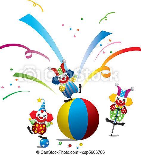 circus's clown - csp5606766