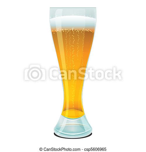 beer in glass - csp5606965