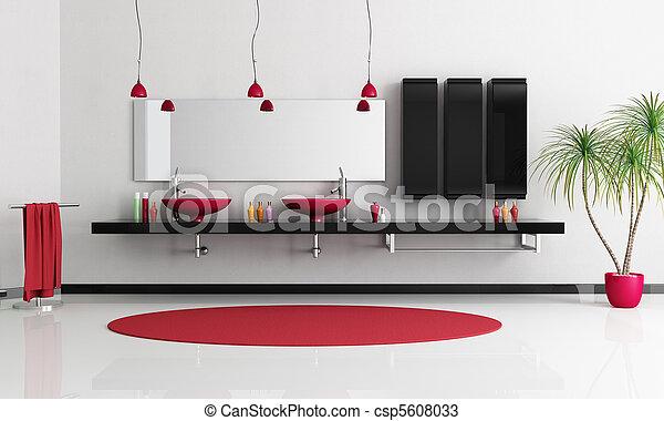 contemporary bathroom - csp5608033