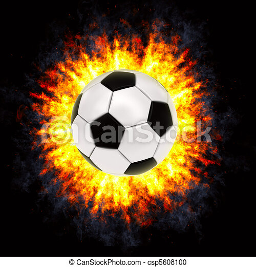 Soccer ball in powerful explosion - csp5608100