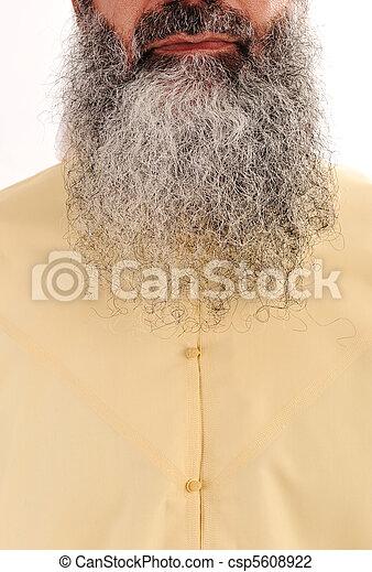 Long beard, facial hair - look as Osama bin Laden - csp5608922