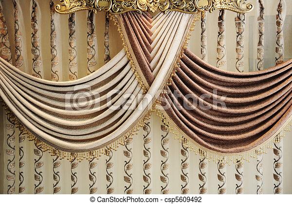 clipart von vorhang modern modern vorhang csp5609492 suche clipart illustration. Black Bedroom Furniture Sets. Home Design Ideas