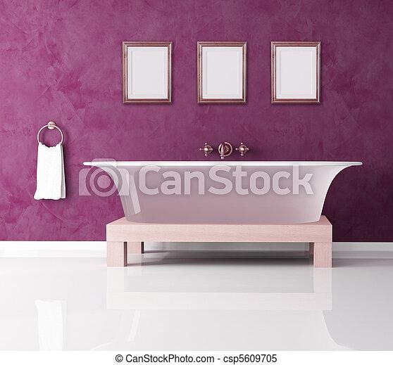 stock bilder von lila, badezimmer - klassisch, lila, badezimmer, Badezimmer