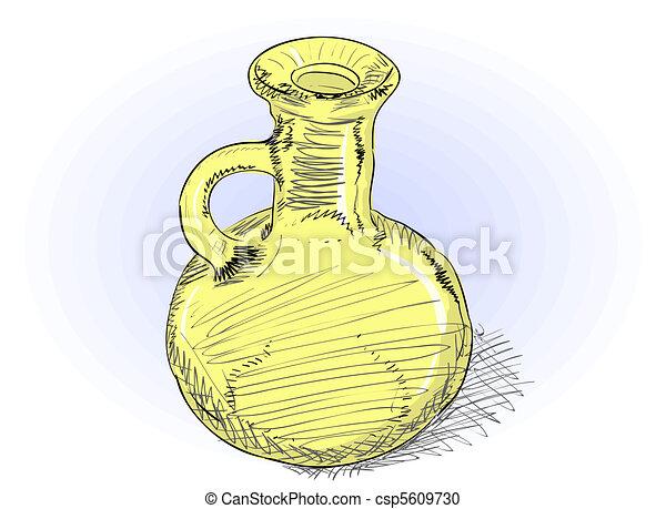 Carafe - vector rough illustration  - csp5609730