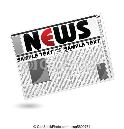 News Paper - csp5609784