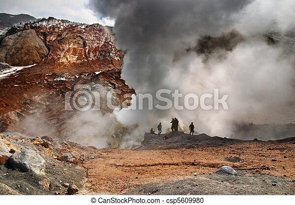 Active volcano - csp5609980