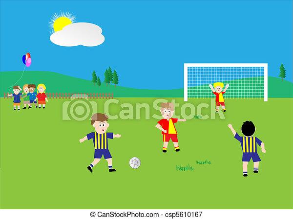 Boy Playing Soccer Drawing Kids Playing Soccer