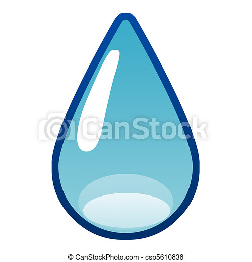 Stock Illustration of water drop - simple water drop ...