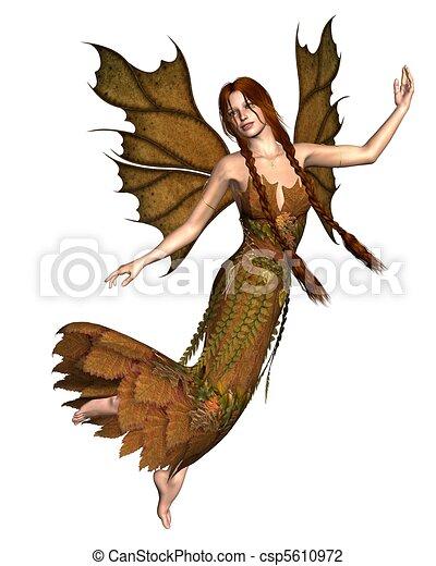 Fairy Autumn Spirit - 2 - csp5610972