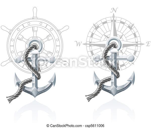 Nautical emblems - csp5611006