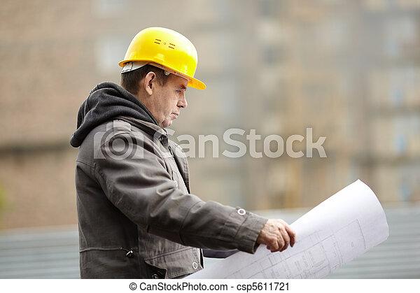 construção, sob - csp5611721
