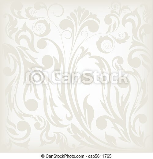 gray floral background - csp5611765