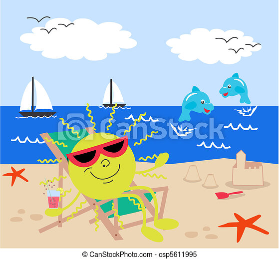 free beach vacation clipart - photo #47