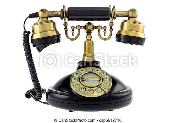 Old fashioned telephone - csp5612716