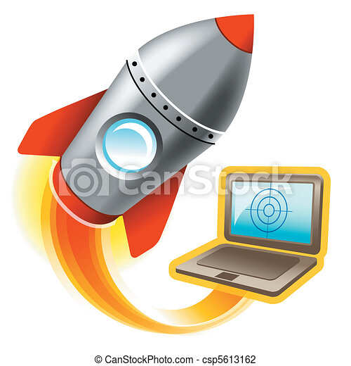 illustration of computer for gaming - csp5613162