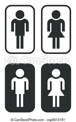 toilet signs - csp5613181