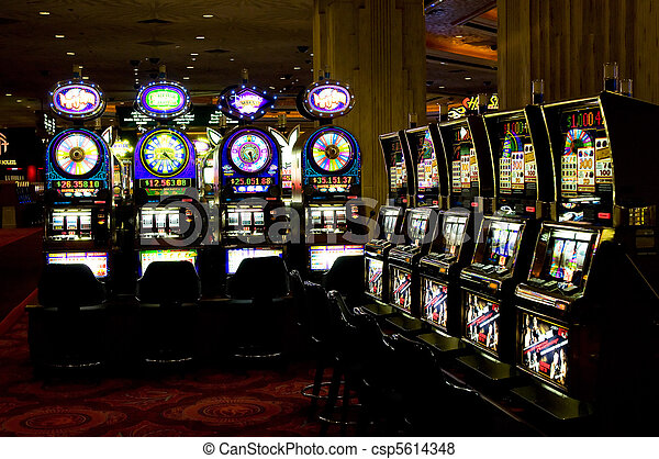 Slot machines, Las Vegas, Nevada - csp5614348