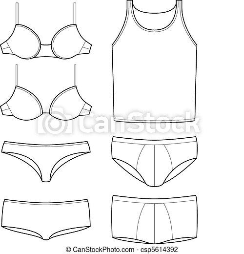 underwear templates - csp5614392