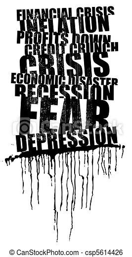 world wide crisis headline - csp5614426