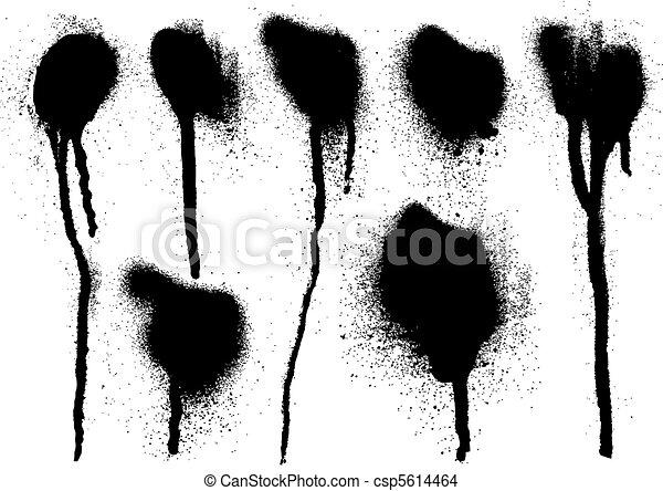 black spray drips - csp5614464