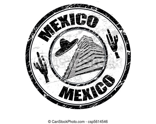 Mexico stamp - csp5614546