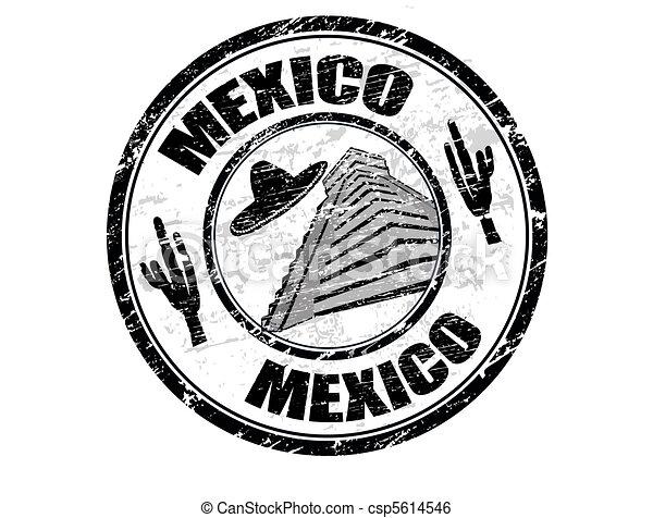 Mexico stamp - csp5614546