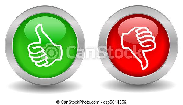 Thumb up down - csp5614559
