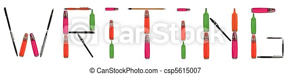 Writing word made of writing tools - csp5615007