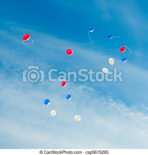 toy color baloones in the sky - csp5615265