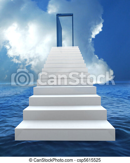 Risk and success business staircase - csp5615525
