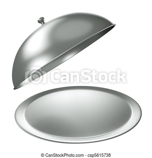 Silver catering tray - csp5615738