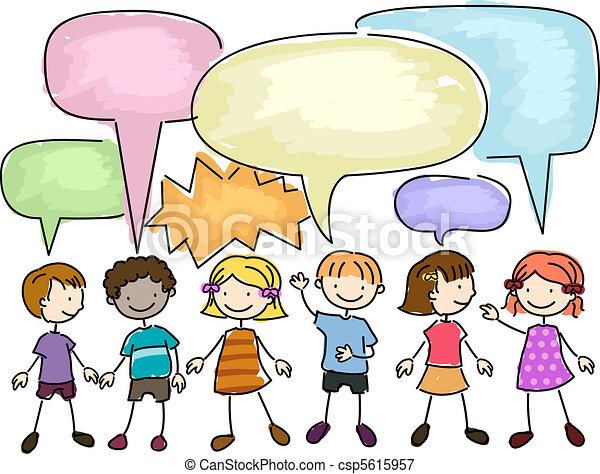 stock illustrationen von sprechende kinder abbildung