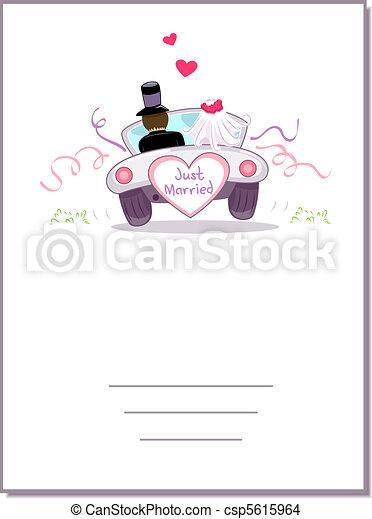 Dessin de voiture carte mariage illustration de a mariage csp5615964 recherchez des - Dessin voiture mariage ...