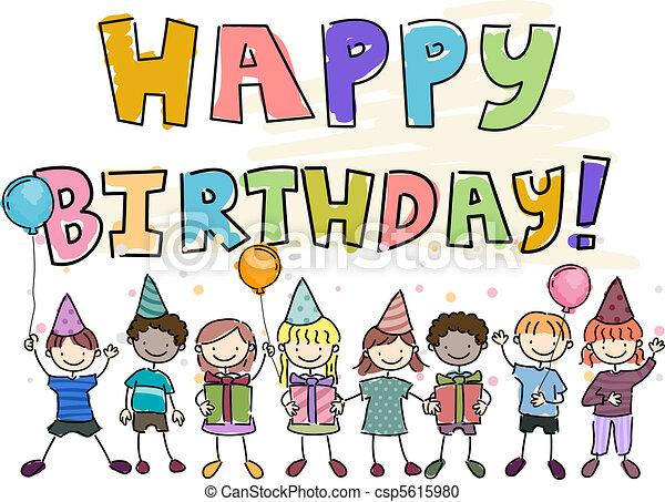 Birthday Doodle - csp5615980