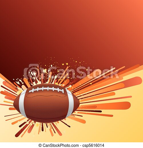 american football background - csp5616014