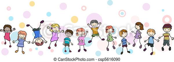 Kids Stunt Border - csp5616090