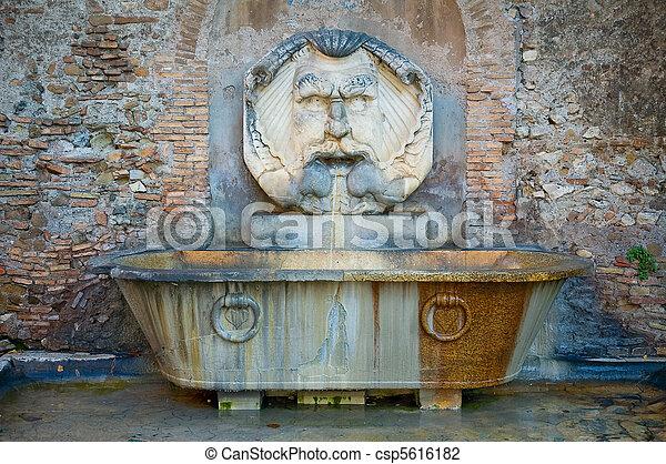 roman fountain - csp5616182