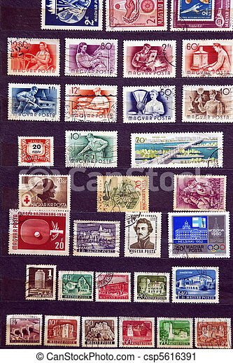 Used stamps from communist Hungary - csp5616391