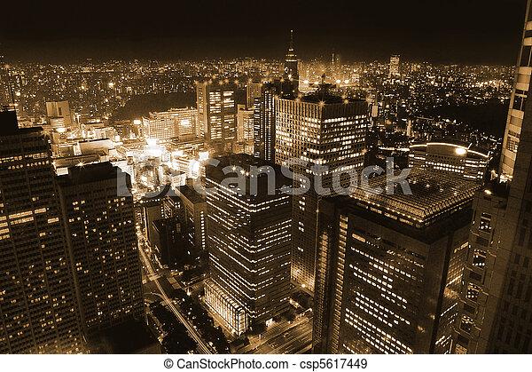 cidade, noturna - csp5617449