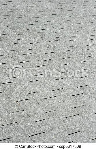gray roof shingles - csp5617509