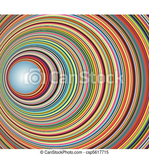 Abstract colorful tunnel with circles - csp5617715
