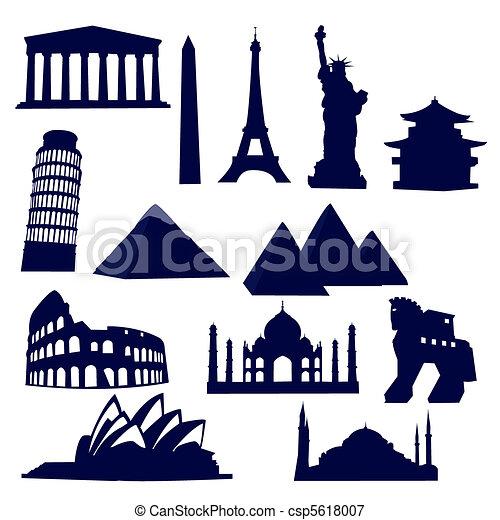 world landmarks - csp5618007