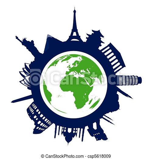 world landmarks - csp5618009