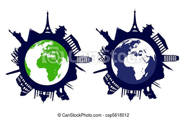 world landmarks - csp5618012