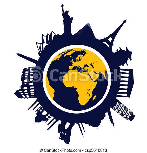 world landmarks - csp5618013