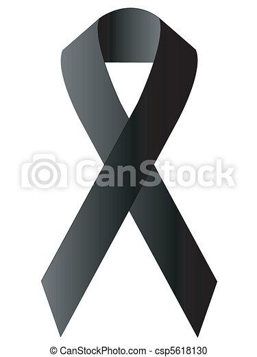 black ribbon - csp5618130